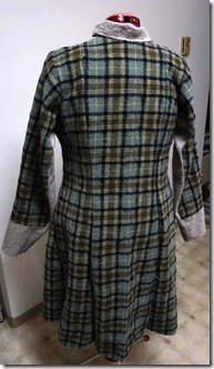 Washed wool coat - basted backt view